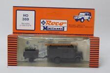 Roco HO 369 Mercedes L 1500 SLF 8 Fire Truck + Trailer 1/87 Scale HO Plastic E12