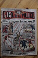 Rarissime L' OEIL DE LA POLICE 1A/20 La Vengeance d' Un acrobate / Cirque