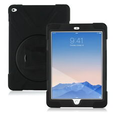 Outdoor Schutzhülle für Apple iPad Air 2 iPad 6 Hybrid Case Cover Tasche schwarz