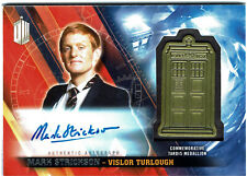 Doctor Who Topps Timeless Tardis Medallion Autograph Card Mark Strickson #09/10