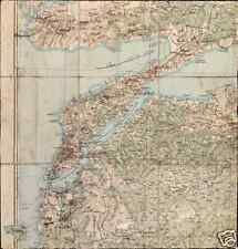 World War 1 Gallipoli Map of Turkish Dispositions April 1915 8x8 Inch Reprint