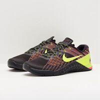 Nike Metcon 3 Men's Size 12 Black Volt Hyper Crimson 852928-012 Running Sneaker