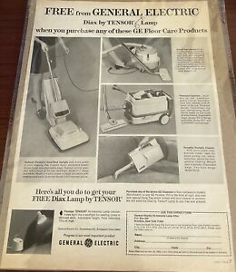 1969 General Electric GE Vacuum Cleaner 4 Brand Models Upright Canister & Mor Ad