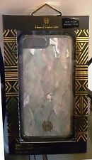 House of Harlow iPhone 7 PLUS clear case~Shell Inlay coque effect~ Gold Logo