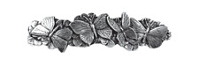 Butterflies Artisan Hand Poured Pewter Barrette Hair Clip by Oberon Design