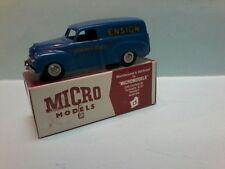 MODIFIED Plastic  MICRO MODELS  FJ Holden Panel Van with ENSIGN & LUKOS decals