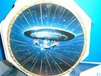 Star Trek The Voyagers USS Enterprise NCC- 1701D Collectors Plate Hamilton 1994