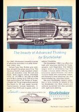 "1963 STUDEBAKER LARK AVANTI AD A4 CANVAS PRINT POSTER 11.7""x8.3"""