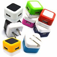 USB Wall 2 Charger Fast 1A USB Adapter For Galaxy S3 4 5 Note 3 LG iPhone B298