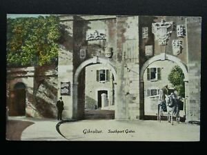 Gibraltar SOUTHPORT GATES - Old RP Postcard by Millar & Lang of Glasgow