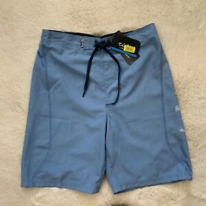NWT Salt Life SLX-QD Boys Youth XL Blue Swim Trunks Board Shorts Waist 28