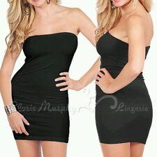 NWOT Cloris Murphy Sexy Black Curve-Hugging Strapless Tube Dress OSFM BD218 Rare