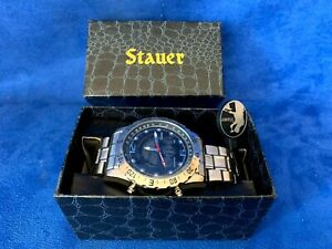 Stauer Hybrid Digital Analog Stainless Steel Men's Watch w/Box