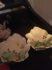 TWO CARLTON WARE Australian Design Maple leaf shaped dishes