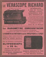 Z9407 Vérascope RICHARD - Glyphoscope -  Pubblicità d'epoca - 1909 Old advert