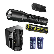Nitecore R25 Flashlight w/Charging Dock,18650, & 2x CR123A, +Tip Flashlight