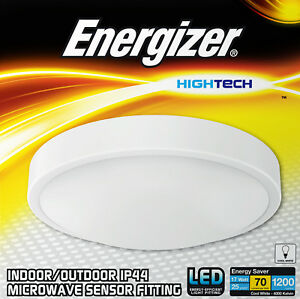 Energizer LED Bathroom Light Fitting Automatic Microwave PIR Motion Sensor