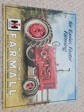 Farmall Model M Tractor IH Fast Farming Equipment Vintage Metal Tin Sign 16x13