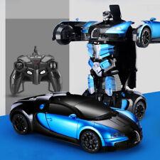 Deformed Car,Transforms into robot BUGATTI blue