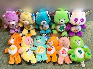 "11 Care Bears Vintage Plush 7"" - 10"" 2004-07  Era All With tags LOT Polite Panda"