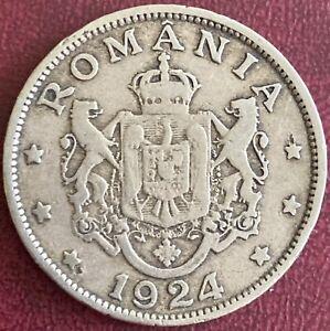 Romania - 2 Lei Coin - 1924 (NO)