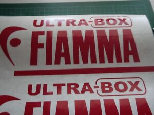 2 X Fiamma Ultra Box Caravan/Motorhome  Stickers