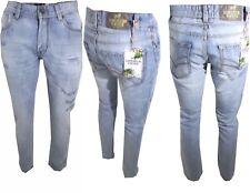 0a999994fce2 Jeans uomo strappati slim estivi 46 52 Pantaloni Superior Vintage vita bassa