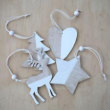 x1 Wooden Christmas Decoration - choose from 4 designs tree reindeer start heart