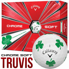 CALLAWAY CHROME SOFT TRUVIS SPECIAL EDITION LUCKY CLOVER GOLF BALLS / DOZEN PACK