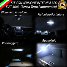 KIT FULL LED INTERNI FIAT 500L CONVERSIONE COMPLETA CANBUS NO ERROR 6000K