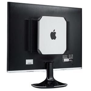 Monitor Mount For Mac Mini Sleek Design VESA Compatible Under Desk Holder New
