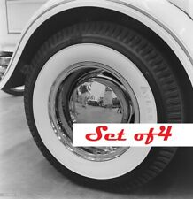 "Vintage ATLAS Tire Style 15"" Portawall White Wall 2"" Wide GM Ford Mopar hot rod"