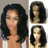 Short Wave Lace Front Wigs Wavy Brazilian Human Hair Full Lace Wigs For Woman