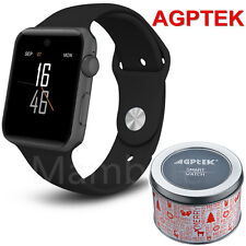 AGPTEK Bluetooth Smart Wrist Watch SIM Phone Mate for Phone IOS Android Samsung