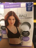 Bali Ladies' Comfort Revolution Flex Fit Foam Wirefree Bra New White Women's
