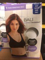 Bali Ladies' Comfort Revolution Flex Fit Foam Wirefree Bra New White Women's