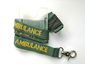 1 x 90 x 1.5cm Lanyard AMBULANCE with ID Pass Holder Paramedic Student Medic