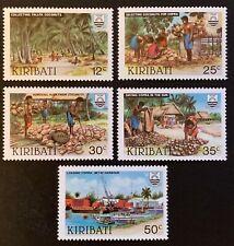 Kiribati. Copra Industry Stamp Set. SG205/09. 1983. MNH. (N38)
