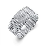 Silver Plated Men's/Women's Rings Fashion Jewelry Charms Gift size 6 7 8 9 10