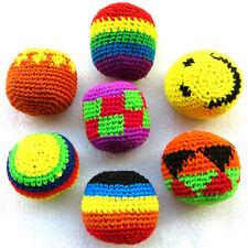 1Pc Dia: 5cm Handmade Hacky Sacks Footbag Magic Juggling Ball Random Color New