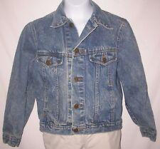 Vintage Girls BLUE DENIM JEANS JACKET Size Medium 10-12 classic details