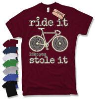 RENNRAD BICYCLE T-SHIRT Rad Trikot Fahrrad Bike Skull Geschenk Vintage Gelbes