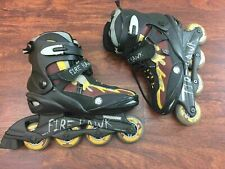 MONGOOSE FIRE HAWK Flux Fit System 1 Black Inline Skates Roller Blades Men's 7