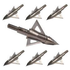 12Pcs Archery Broadheads 100/125 Grain Crossbow Recurve Compound Bow Arrow Tips