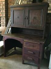 VINTAGE SOLID OAK DESK, Restore, ShabbyChic or use the timber