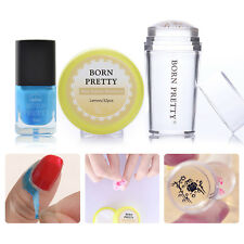 BORN PRETTY Stamp Tools Nail Stamper Polish Remover Pads Peel Off Liquid Tape