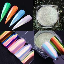 Efecto de espejo de neón brillo en Polvo Polvo uñas artísticas pigmento de cromo