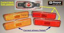 1972-UP NOS MoPar RED/AMBER Side Marker Lamps Cuda Charger Plymouth Dodge Dart +