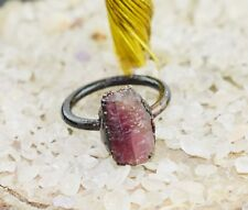 Good Quality Natural Raw Tourmaline Statement Gemstone Stackable Ring Jewelry