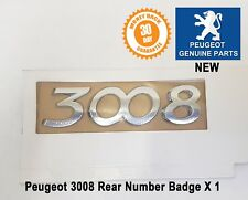 Peugeot 3008 Number Badge Logo Emblem Tailgate Rear New 8666CF Genuine